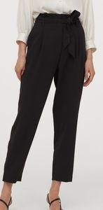 Black Paperbag Pants